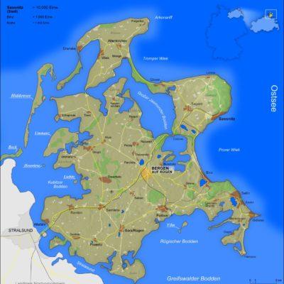Rügen Karte Map